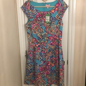 Lilly Pulitzer Brielle Dress Aqua Bait & Switch